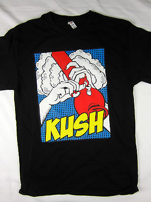 420 Kush life bong pic pot weed men's Tee shirt black choose A size
