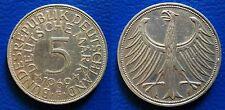 MONETA 5 MARCHI MARK ARGENTO PLATA 1969 ZECCA F GERMANIA SILBERMüNZEN