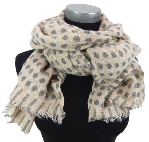 Damenschal beige grau Punkte by Ella Jonte Schal Herbst Winter wärmend neue Ware