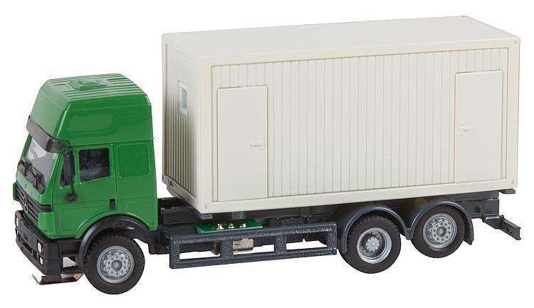 Faller 161480 ESCALA HO car system Camión MB SK `94 Contenedor construcción