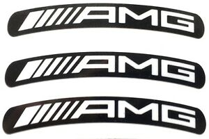 Mercedes-AMG-Wheel-Rim-Stickers-x8-White-on-Black-Laminated-117-x-15mm-x-19-034-Rim