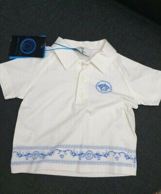 12 Months Age Newborn Red /& Blue BNWT TU Long Sleeve Polo Shirt Vest Boys