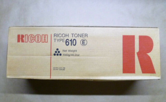 Ricoh Toner Type 610 885078 Ft6645 Ft6655 Ft6665 Ft7650 Ft7660 Ft7670 -- Sealed