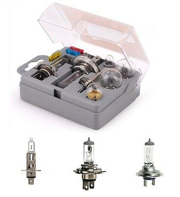 Fuse Emergency Replacement Kit Universal Car Light Bulb 10 Pieces H1 H4 H7
