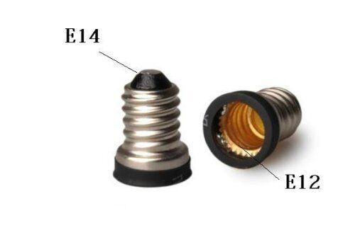 10pc E14 Convert To E12 Adapter Lamp Holder Base Sockets Light Bulbs Candelabra