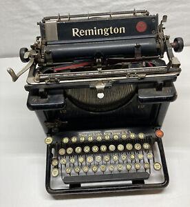 Early 1900s REMINGTON standard 12 Typewriter No. 10. RARE Vintage Antique #123