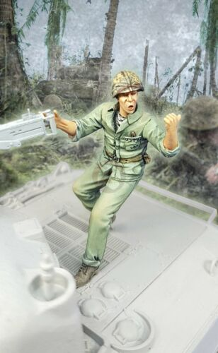 Djiti/'s 1//35 USMC Marine Corps Tank Commander on Sherman M2HB MG PTO WWII 35090