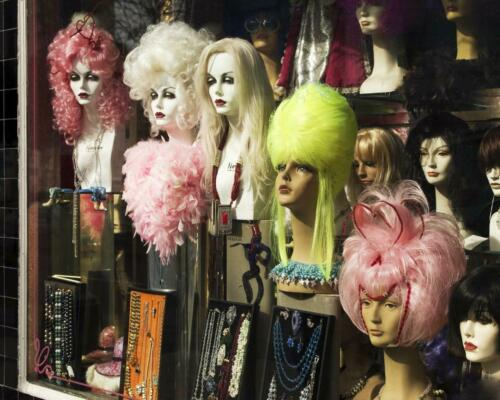 Wig Shop Window Display San Francisco .. Vintage Photo .. Photo Print 8x10