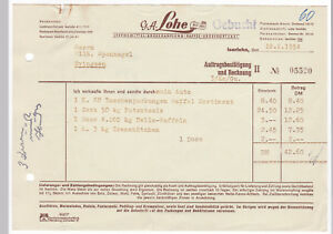 Details zu Rechnung G. A. Lohe Iserlohn 10 Lebensmittel-Großhandlung  Kaffee Großrösterei