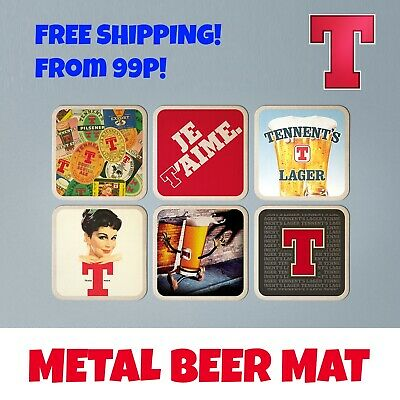 Set of 6 TENNENTS VINTAGE CLASSIC BEER MATS COASTERS Free Post!