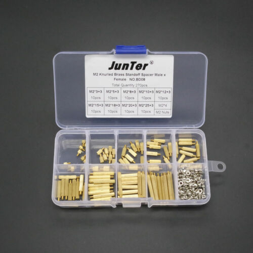 High quality 270pcs M2 Brass Standoff Spacer Male x Female With Screws And Nuts