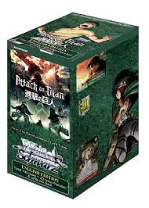 ventas en linea Weiss negro ataque a los titanes Vol Vol Vol 2 TCG Booster Box (20 paquetes) Nuevo Sellado  venta caliente en línea