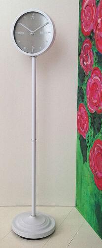 SONDERPREIS ca 22 cm anthrazit//weiss//apfelgrün Standuhr Ø ca 120 cm hoch