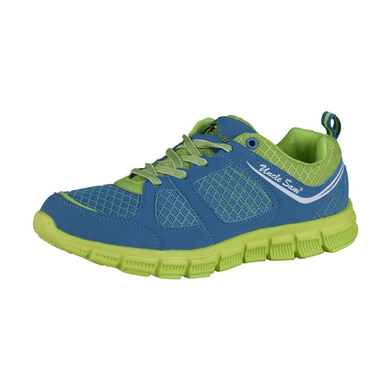 Uncle Sam Ladies Lightweight Running shoes bluee Green