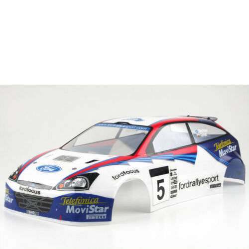 Bodywork Ford Focus Rs WRC Painted Pure Ten Alpha Kyosho AEB-01 #701712