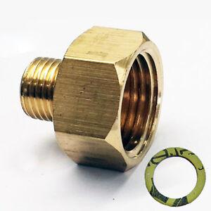 Ubergang-1-2-034-R-x-1-4-034-lks-LPG-Gas-Adapter-Kupfer-f-Gaskocher-Gasschlauch-Gasherd