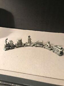 Texaco Pewter Miniature 6 Piece Train Set Rare. Brand New