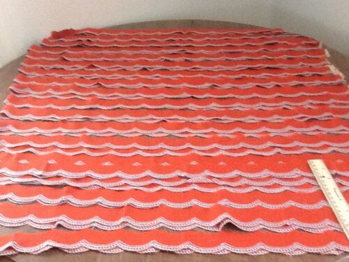 """1,1/4"""" Beautiful Cotton Copper Scalloped Embroidered Trim 24 +yards"""