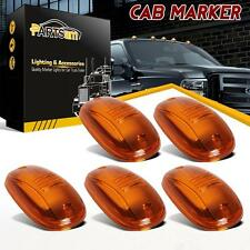 5) Cab Marker Clearance Light lamp Amber Covers+Base Housing For 2003-2012 Dodge
