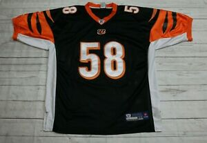 Details about Rey Maualuga Cincinnati Bengals Reebok On Field Jersey Men Size 54 Sewn/Stitched