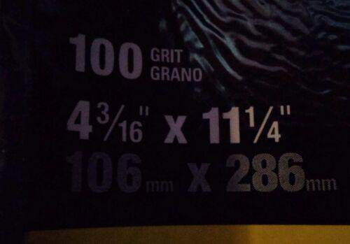 "STANLEY PROSERIES DRYWALL SANDPAPER 100 GRIT 10 SHEETS 4 3//16/"" X 11 1//4/"" NEW"