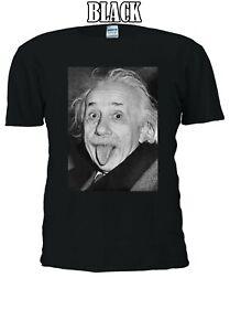 Albert-Einstein-Divertente-barzellette-sporgono-lingua-Uomini-Donne-Unisex-T-shirt-21