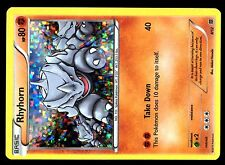 PROMO POKEMON MAC DO 2015 MCDONALD'S CARD HOLO N°  8/12 RHYHORN ....