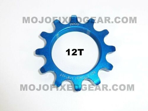 BLUE ANODIZED Cro-Mo TRACK 12 TOOTH 1//8 INCH CNC MOJO 12T FIXED GEAR COG