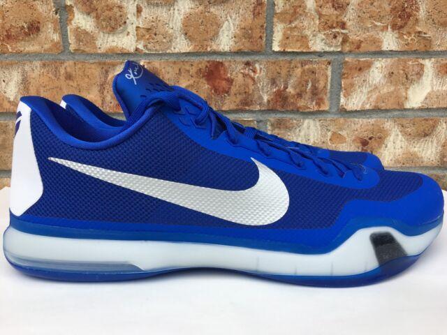 wholesale dealer 7fe39 6f629 Men s Nike Kobe X 10 TB Basketball Shoes Blue Silver White Size 18  813030-402 for sale online   eBay
