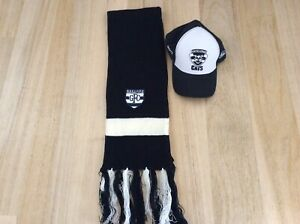 GEELONG CATS AFL ADJUSTABLE CAP AND SCARF BOTH ITEMS IN VGC
