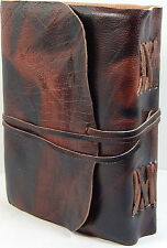 Handmade Paper Brown Luxury Rustic Leather 5 x 7 Paper Journal -  A5 Sketchbook
