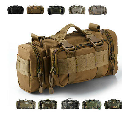 3P Military Tactical Waist Pack Bag Outdoor Molle Camping Hiking Backpack