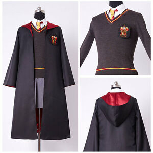 Harry Potter Hermione Granger Cosplay Costume Adult Gryffindor Uniform Dress Set