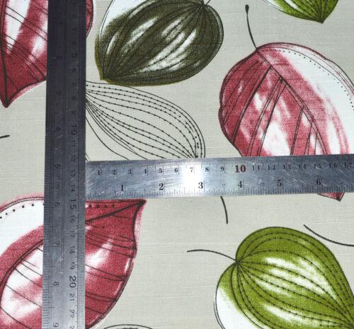 Ai01a vert clair Vin Rouge Sur Gris pâle Feuille Tissu De Coton Coussin//Oreiller Couverture