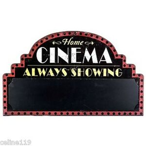 "HOME THEATER   ""CINEMA CHALKBOARD""  ENTERTAINMENT ROOM DECOR"
