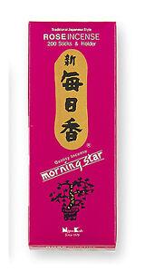 Giapponese-KODO-Mattina-Star-Incenso-ROSA-200-bastoncini-porta-incenso