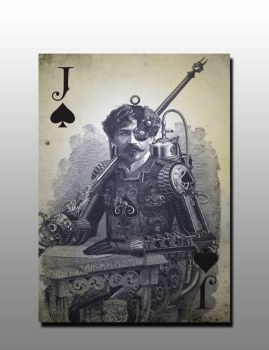 ACEO Jack of Spades Vintage Playing Card Art Canvas Giclee Print