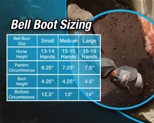 Weaver Leather Equine Ballistic 2520D Nylon No-Turn Overreach Bell Boots Black