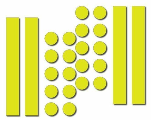 Motorcycles Yellow Free P/&P New 24pc reflective Sticker Set For Use On Cycle