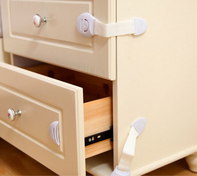 child Infant Baby Kids Toddler Safety Fridge Drawer Door Cabinet Cupboard Lock