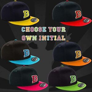 2cc8bad259f BOYS GIRLS SNAP BACK BASEBALL CAP FLAT PEAK YOUTH NEW PERSONALISED ...