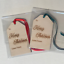 Pack of 10 Merry Christmas Wooden Christmas Gift Tag Hanging Decoration