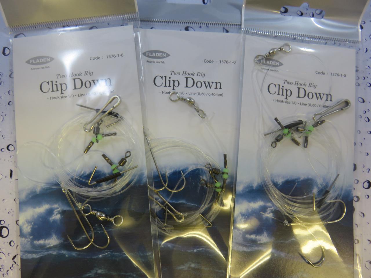 3 x Fladen 2 Down Crochet Clip Down 2 Rig Sz 1/0 Pour Mer Bateau Quai Plage Rock Fishing 7f9408