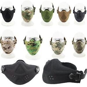 Anti-Dust-Airsoft-Softair-Paintball-Maske-Gotcha-Half-Face-Mask-Jagd-War-Spiel