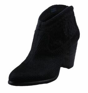 UGG-Charlotte-Snake-Women-039-s-Black-Calf-Hair-Ankle-Bootie