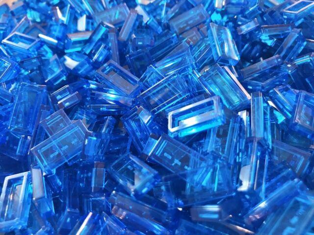 LEGO Lot of 4 Translucent Light Blue 1x2x1 Wall Panels