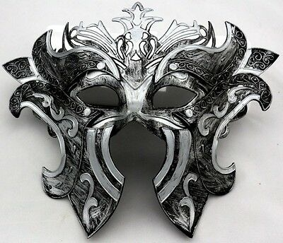 Hand-made Vintage Roman Greek Gladiators Warrior Venetian Masquerade Men's Mask
