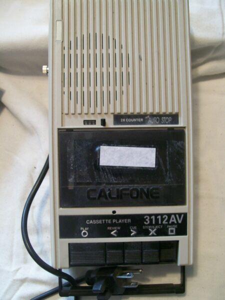 Califone 3112av Tape Player Works Did Not Test The Recording Part Bloedcirculatie Activeren En Pezen En Botten Versterken
