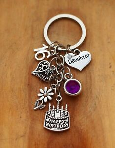 Details About Personalised Birthday Gift Keyring Mum Daughter Sister Nan 18th 21st 30th 40th
