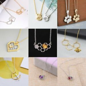 Fashion-Bee-Paw-Heart-Crystal-Women-Choker-Necklace-Charm-Chain-Jewelry-Holiday